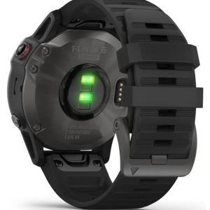 Garmin Fenix 6 Sapphire Carbon Gray DLC with Black Band 010-02158-45a